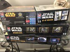 AMT Star Wars Model Kits Darth Vader Tie Fighter AT-AT Speeder Bike Jedi Fighter
