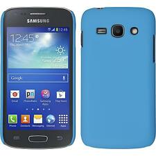 Hardcase Samsung Galaxy Ace 3 rubberized light blue Cover + protective foils