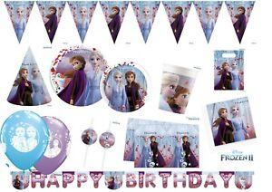 FROZEN 2 Elsa Anna Party Supplies Decorations Happy Birthday Tableware