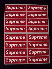 supreme box logo red sticker vinyl decal pack lot of 16 skateboard laptop car