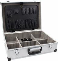 Aluminium Koffer mit Schaumstoff leer Alukoffer Werkzeugkoffer Alu Werkzeug BGS
