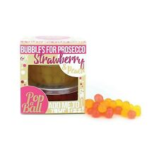 Popaball Bubble Tea Bursting Bubbles For Prosecco Strawberry & Peach Flavour Set