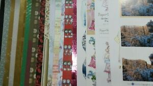 20 X A4 CHRISTMAS PAPERS/CARD/DECOUPAGE - A BIT OF EVERYTHING