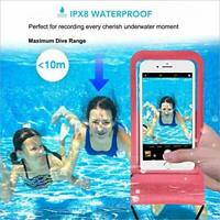 2 X Mobile Use Under Water Swimming Bag Phone Case Waterproof Transparent Finger