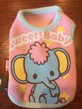 3XS PINK BABY ELEPHANT Fleece Dog Shirt NEW! Little Puppy CUTE!