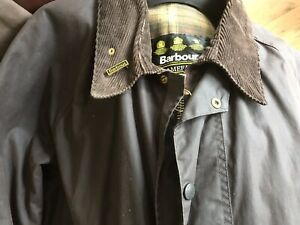 Men's BARBOUR A125 'Gamefair' Brown Wax Jacket With Badge - Size XXXL