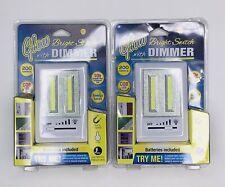2x Glow Bright Switch Dimmer COB LED 200 Lumens Light