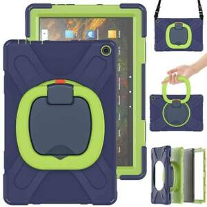 """Hybrid Stand Strap Case Handle Cover For Amazon Fire HD 10 Plus 2021 11th 10.1"""""""