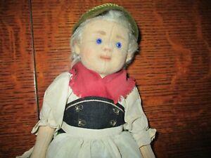 "10 1/2"" Antique Steiff Child Doll, Button In Ear"