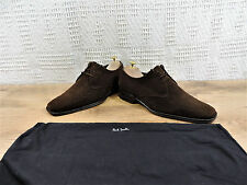PAUL SMITH Hombre Marrón Ante Zapato Oxford Cuenta Con MADE UK 8 US 9 UE 42