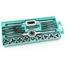 20PCS Tap and Die Set Metric Hardware Tool Combination with Adjustable Tap Wrenc