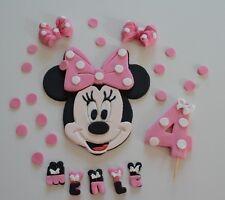 Minnie Mouse Kindergeburtstag Tortendeko Tortenaufleger Zuckerfigur Fondant Kuc