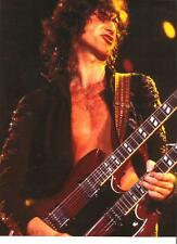 """LED ZEPPELIN Jimmy shirtless with twin neck magazine PHOTO / mini Poster 11x8"""""""