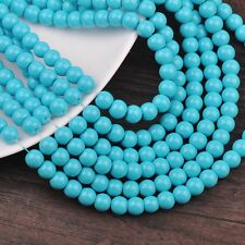 New 100pcs 4mm Round Glass Loose Spacer Beads Jewelry Findings Sky Blue