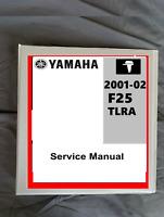2002 Yamaha F25 TLRA Outboard boat motor service repair workshop manual