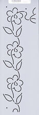 Quilting Stencil Template - Continuous Floral Border Design - Made in the US