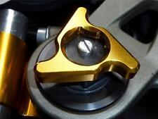 FORK PRE LOAD ADJUSTERS 17MM GOLD APRILIA RSV1000 MILLE FACTORY DUCATI 1098  B6D