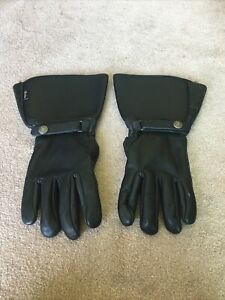 INDIAN MOTORCYCLE MEN'S BLACK LEATHER GAUNTLET GLOVES SMALL