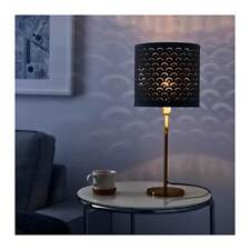 Ikea NYMÖ Pendant Or Floor Lamp shade Black/brass-colour NYMO 44 cm