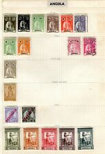 ANGOLA COLLECTION. ALL HINGED ON PAPER