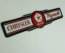 Chrysler Plymouth Dealer Metal Sign Die Cut Jeep Ram Hemi Doge Scat Pack 3D New