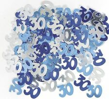 30th Birthday Party Supplies Confetti Blue Silver Table Scatters Decorations