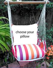 MAGNOLIA CASUAL HAMMOCK SWING SET - CRISTINA STRIPE Choose Your Pillow