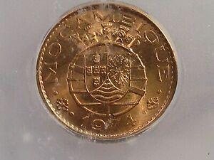 BU RED 1974 20 Centavos Mozambique ICG MS65 RD KM#88. #35