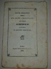 """Libretto sacro """"Alcune riflessioni utili ad ogni cristiano al servizio di Dio"""""""