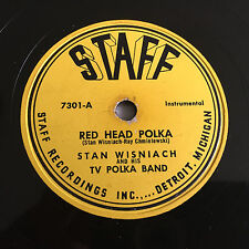 POLKA 78 rpm Jukebox Collection STAFF Detroit Wisniach Pavilon KOSOWICZ  Record