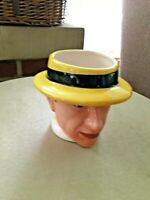 Colorful Man's Head Vase/Yellow Hat