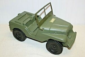 Vintage Irwin -  1970's GI Joe Action Transport Vehicle - Green Army Jeep
