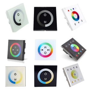 Single/RGB/RGBW Touch Panel Controller Dimmer Wall Switch Ring 12V for LED Strip