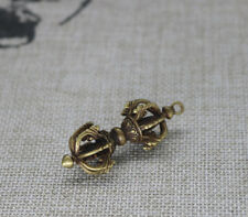 China Old Collectibles Pure brass Tibetan Vajra Dorje small pendant
