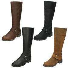 Clarks Orinoco Jazz Black Leather BOOTS - UK 4