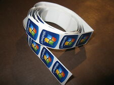 50 pcs Microsoft Windows 7 18mm x 18mm Sticker Label Case Badge Logo Wins Win