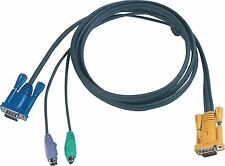 Aten KVM Cable VGA Male / 2x PS/2 Plug to Aten SPHD15-Y 3.0 m