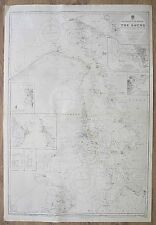 Denmark Sweden The Sound Entrance to the Baltic VINTAGE ADMIRALTY CHART MAP
