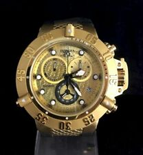 New Mens Invicta Subaqua 18k Gold 50mm Stainless Steel SWISS Watch