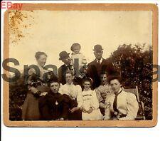 More details for newport family photo 1897 rp vintage postcard p04