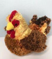 "Douglas Brown Multi Hen 8.5"" Plush Chicken Soft Stuffed"