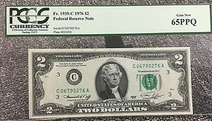 "1976 $2 Fr1935-C PHILLY FRN 65PPQ S/N CO6790276A ""CO"" NOTE (CA BLOCK) .99c START"