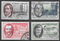 Republic of France Stamps 1957 French Inventors Sg 1324 to 1327 Used