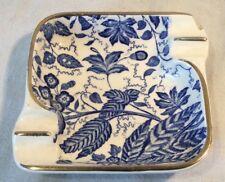 Lovely Collectable Vintage Waechtersbach Blue & White Manila Ceramic Ashtray