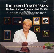 RICHARD CLAYDERMAN: THE LOVE SONGS OF ANDREW LLOYD WEBBER – CD (1989) 12 TRACKS