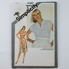 Simplicity 9917 Pattern UNCUT -Pullover Dress or Top- Women's Size 12 Adjust Pet