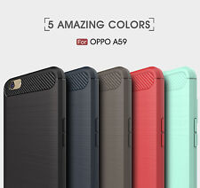 For iPhone X OPPO F1s A39 F5 Carbon Fiber Rugger Armor Silicon Soft Case Cover