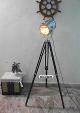 Antique Style Spotlight W / Antique Tripod Stand Chrome Searchlight Floor lamp
