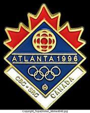 OLYMPIC PINS 1996 ATLANTA CBC SRC CANADA TV MEDIA