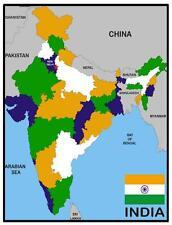 INDIA MAP & FLAG - SOUVENIR  FRIDGE MAGNET -  BRAND NEW - GIFT